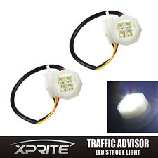 2 White LED Hide-Away Flash Strobe Tube Replacement Spare Headlight Bulbs 180W