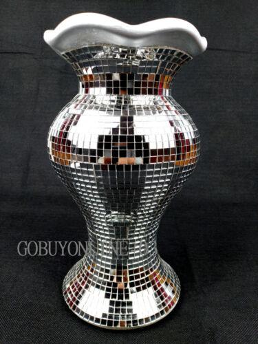 Flower Vase Flower Pot Crushed Diamond Mirror Effect Home Decor Christmas Gift