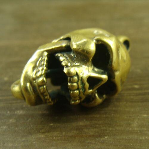 Solid Brass Keyrings Skull Shaped Pendant Keychains Brass Skull Pendant