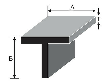 "Aluminium Tee Section T Bar - many sizes from 3/4""  to 4"" with assorted lengths"