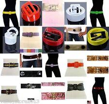 New Wholesale Lot 50 pcs Women Fashion Belts Leather Fur Venyl Mixed Colorful