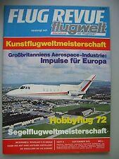 Flug Revue flugwelt international mit Flugkörper Heft 9 Sept. 1972 Luftfahrt