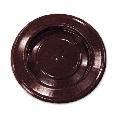 Rosone con Coperchio per Tubi Stufa  Ø 10 cm Marrone in lamiera porcellanata