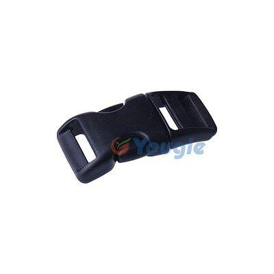 15 pieces 3/4'' Webbing Paracord Bracelet PLASTIC BUCKLE Side Released Black