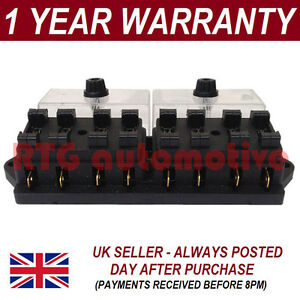 details about new 8 way universal standard 12v 12 volt atc blade fuse box /  cover motorcycle