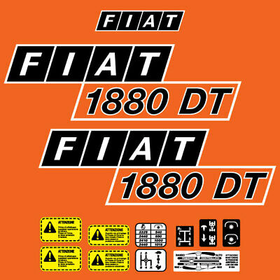 Stickers Decal tractor fiat 450dt