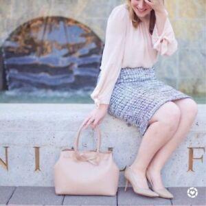 ab40b4a18e Ann Taylor - Pink Multi Grid Fringe Tweed Pencil Skirt $89.00 (88 ...