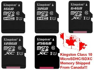 Kingston-Canvas-Select-256GB-128GB-64GB-32GB-16GB-MicroSD-Micro-SD-Memory-Card