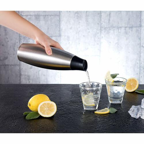 Isoflasche Edelstahl 650 ml Design-Thermo-Isolierflasche mit Klick-Verschluss