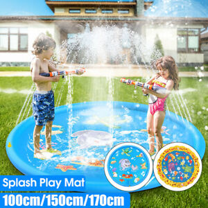 100CM-Sprinkle-amp-Splash-Play-Mat-Toy-Pool-Inflatable-Outdoor-Sprinkler-Pad