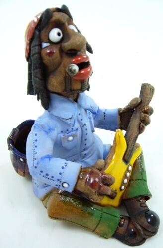 Räuchermann Räucherfigur Keramik Dekoration Figur Bob Marley Handarbeit