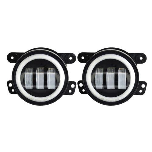 "Pair 4/"" inch 30W CREE LED Fog Light Driving Lamp DRL 2007-2015 Jeep Wrangler JK"