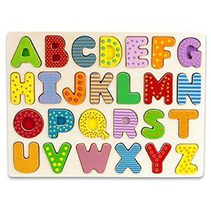 Professor-Poplar-039-s-Wooden-Alphabet-Letters-Puzzle-Board-Sensory-Tactile-Learning