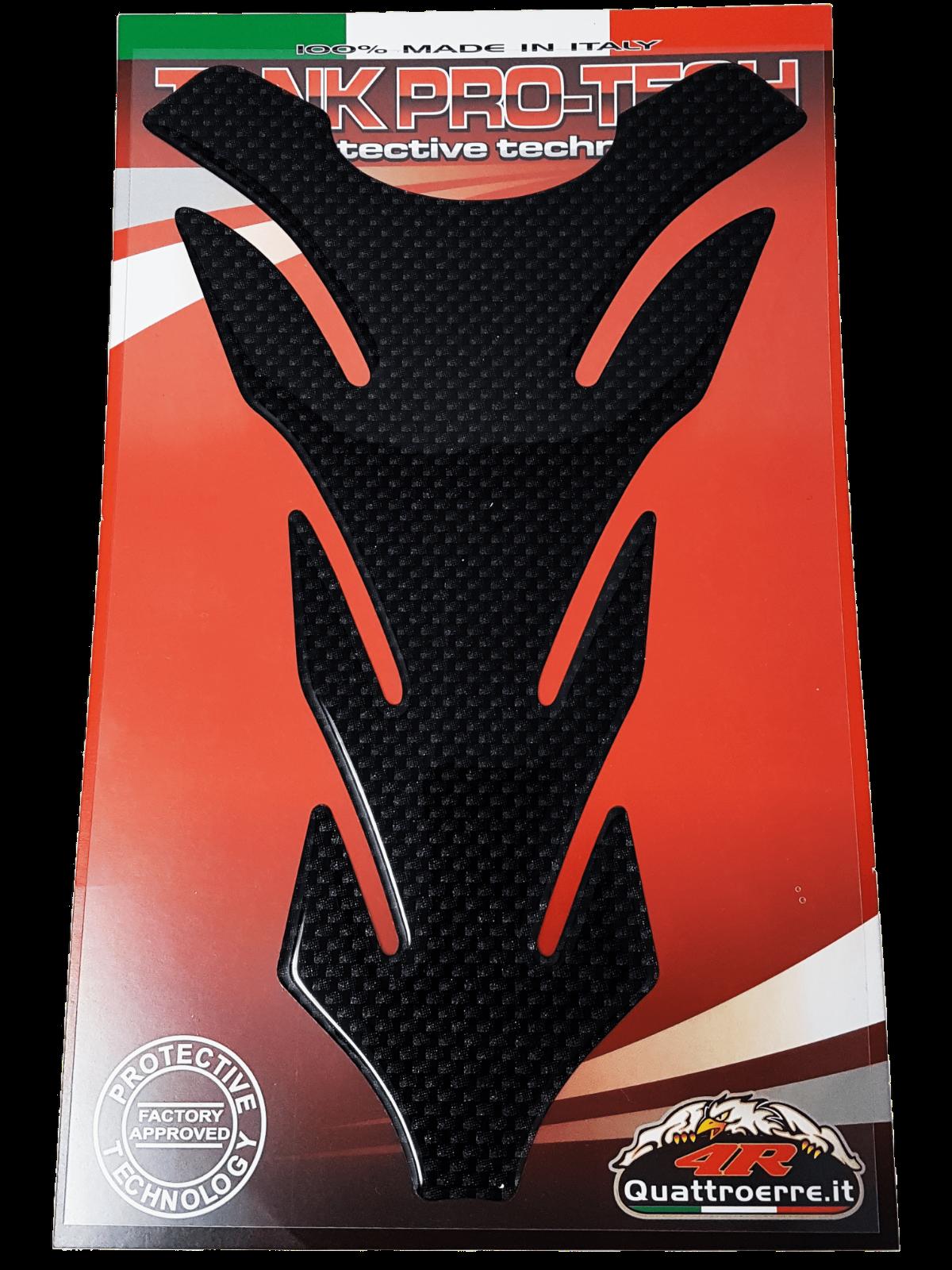 Quattroerre 18121 Protezione per Serbatoio Moto Competition 3D Carbon Look