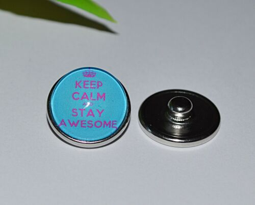 + AUSWAHL Button Druckknopf snap click Armband Ring Glas + KEEP CALM and..