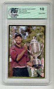 2001-SCI-Tiger-Woods-PGI-10-Gold-rookie-card-PGA-golf