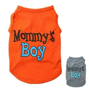 Small-Dog-Pet-Clothes-Summer-Mommy-039-s-Boy-Vest-Sleeveless-Puppy-T-Shirts-Apparel