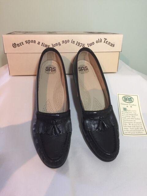 SAS Shoes Softie Black Comfort Leather