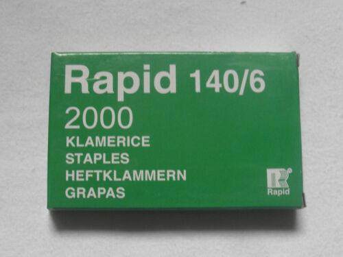 HEFTKLAMMERN FÜR RAPID TACKER--TROCKENBAUTACKER-6mm-2000stk