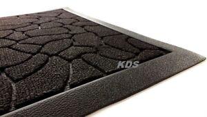 Non Slip Backing Rectangle 40x60, Brown waves Heavy Duty Indoor//Outdoor Door Mat Barrier Mats