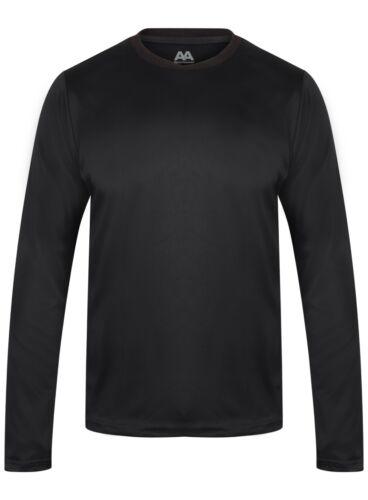 Mens Long Sleeve Running T Shirt Top Lightweight Gym Sports Running Fitness