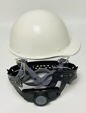 Msa Fiberglass Skullgard Hard Hat White With Ratchet Suspension Large