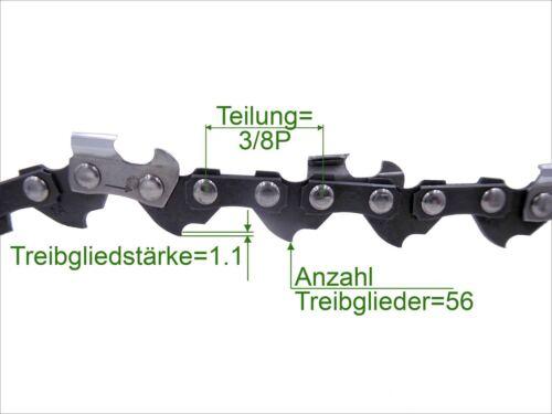 Profi C sierra cadena 3//8p 1.1 mm 56 TG low perfil 40 cm cadena de sustitución para Stihl