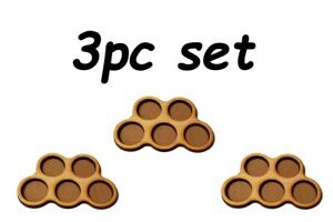 Game-Movement-Tray-5-pc-Trays-32mm-base-for-Warhammer-40k-Age-of-Sigmar-3pc-set