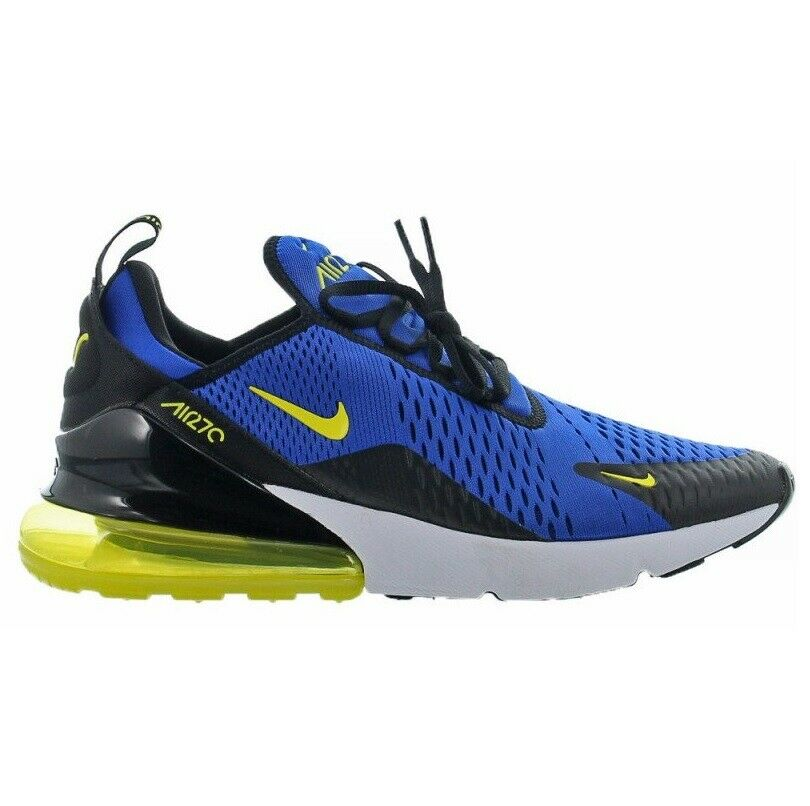 Nike Air Max 270 Guerrieri Mens BV2517 -400 Royal blu  giallo Run scarpe Dimensione 11  presa di fabbrica
