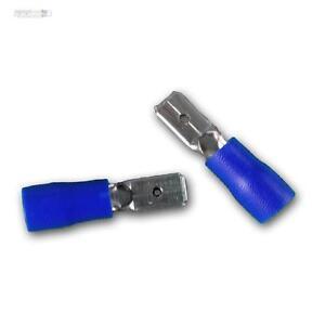 50-Terminales-de-Cable-Conector-Plano-Azul-4-75-x0-8mm-para-1-5-2-5mm