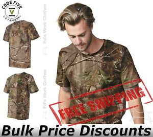 Code-Five-Mens-Adult-Realtree-Camo-Tee-T-Shirt-Short-Sleeve-3980-up-to-4XL