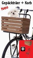 Fahrrad Gepäckträger + Hunde Korb Hollandrad vorne schwarz Fahrradkorb