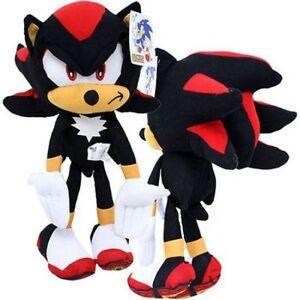 Sonic-Shadow-The-Hedgehog-17-034-Plush-Doll-Black-NWT-Large-Big