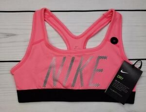 efb9af521f Nike Pro Performance Girl s Graphic Sports Bra Top New Pink 859940 ...