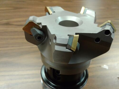 """3/"""" 45 degree indexable face shell mill w BT40 Arbor,face milling cutter-new"""