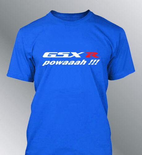 T-shirt customised GSX-R powaaah S M L XL XXL man round neck power GSXR