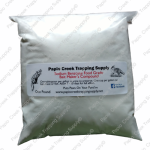Papio-Creek-Trapping-Supply-Sodium-Benzoate-Bait-Maker-039-s-Compound-One-Pound