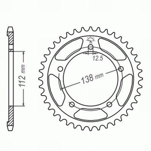 PC38 04-07 EXTRA verstärkt XAM SILENT Kettensatz GOLD Honda CBF 600 //S