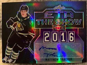 2015-16-Leaf-Metal-ETA-To-The-Show-Purple-Rookie-Auto-Matthew-Tkachuk-1-amp-3-of-10