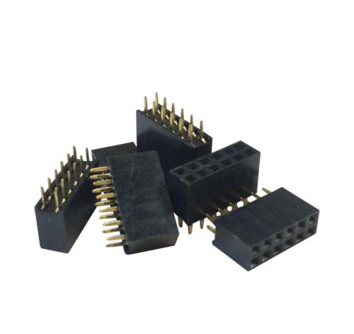 "10Pcs 2.54mm Pitch 0.1 0.1/"" 2x6 12 Pin 12p Female Dupont Header Through Hole USA"