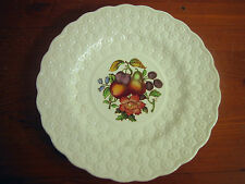 Copeland Spode Luncheon Plate Ring Fruit Bouquet Embossed Daisies England #1