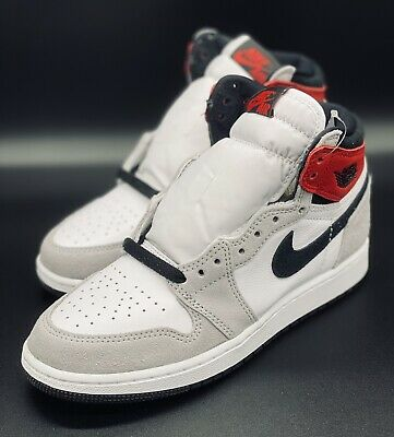 NEW Nike Air Jordan 1 Retro High OG Light Smoke Grey GS 575441-126 Sz 4Y Wmn 5.5 194494074651 | eBay