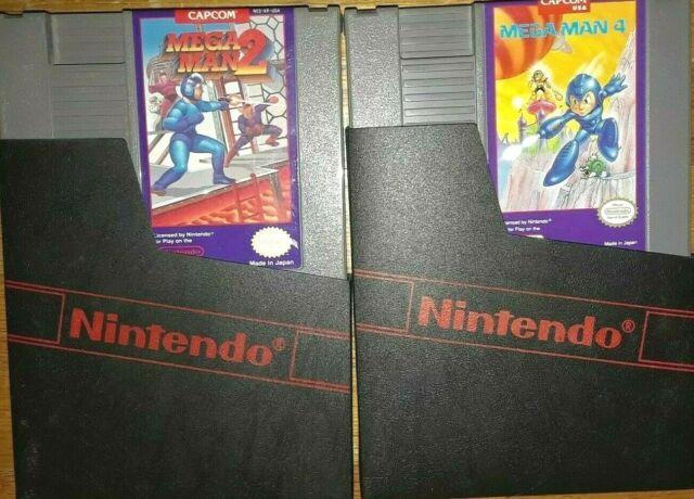 Mega Man 2 & 4 (Nintendo Entertainment System, 1989) NES