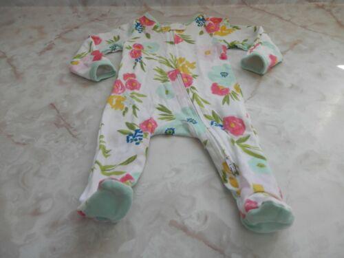 NB Baby Girl Baby Cloud Island Floral Footed Reverse Zipper Sleeper