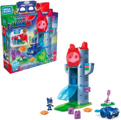 Mega Bloks PJ Masks Build /& Launch HQ with Building Blocks Building Toys GKT85