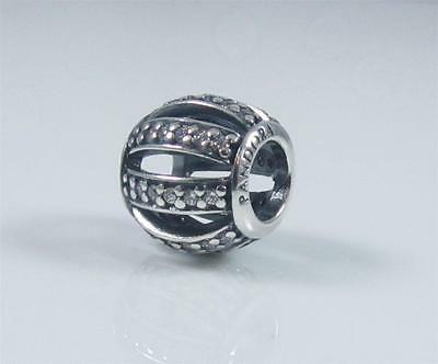 Authentic Genuine Pandora Silver Openwork Pave Charm With Clear Cz 791115CZ