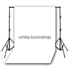 Vinyl Studio Backdrop Photography Props Photo Background WHITE 5X10ft