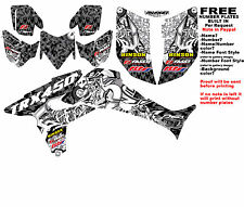 TRX450R LOGO BOMBER GRAPHIC KIT BLACK SIDES/FENDERS 04-05 HONDA TRX 450 TRX450