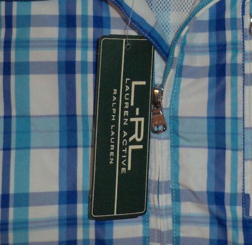 à 8139 Ralph Bleue Zippée Bleu Active L s Veste Nwt Lauren Plaid Blanc Yw7S7