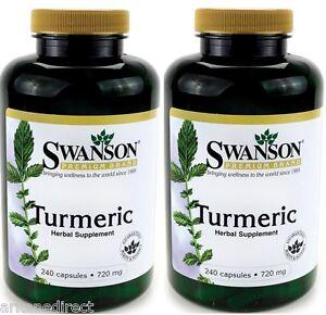 Swanson-Turmeric-720mg-480-Capsules-TURMERIC-CAPSULES-Curcumin-1st-CLASS-P-amp-P